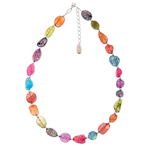 Carrie Elspeth Crackle Agate Necklace