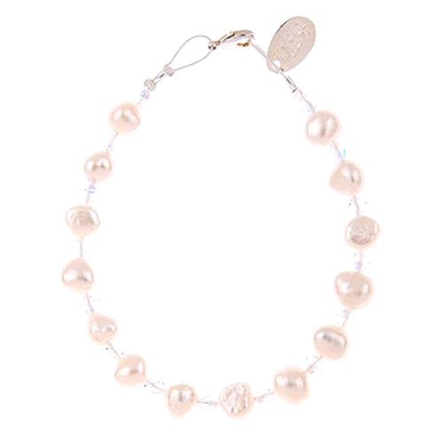 Carrie Elspeth Soft Pearl and Crystal Bracelet