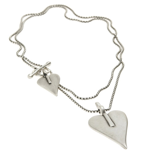 Danon Signature Double Heart Necklace