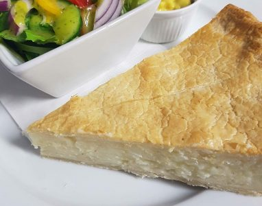 Day Menu Cheese and Onion Pie
