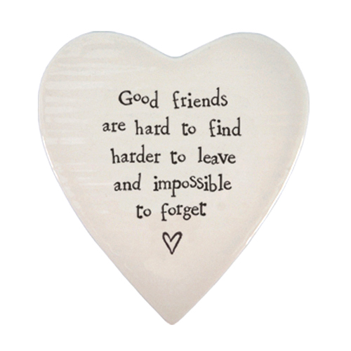 East of India Coaster 'Good Friends are Hard to Find'