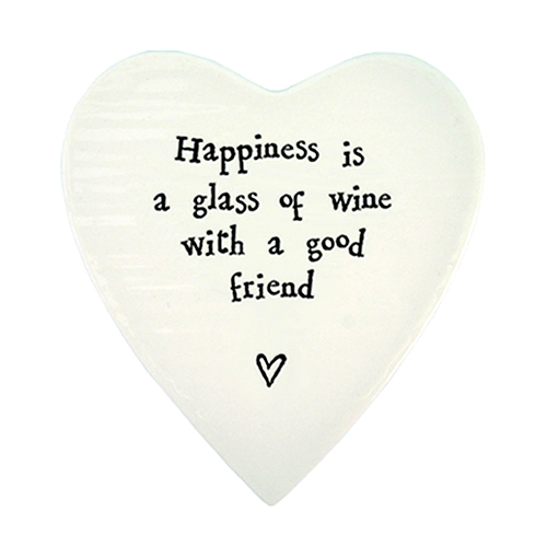 East of India Coaster 'Happiness is a Glass of Wine'