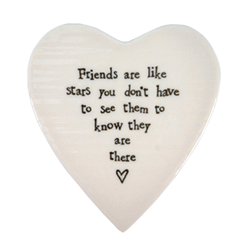 East of India Coaster 'Friends are Like Stars'