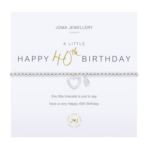 Joma Jewellery A Little 40th Birthday Bracelet
