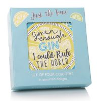 Shruti Just the Tonic Gin Coaster Set