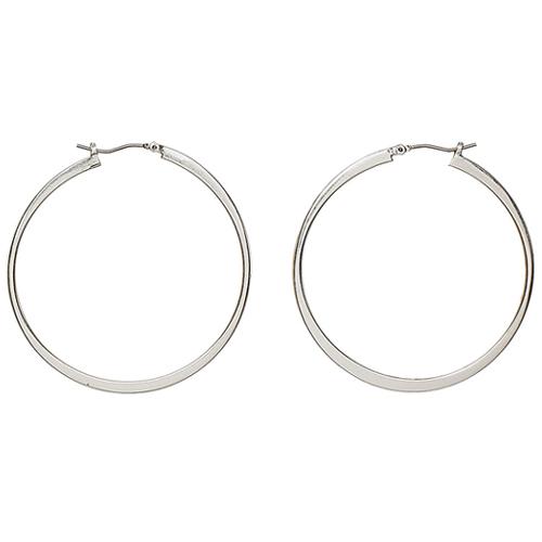 Pilgrim Silver Medium Hoop Earrings