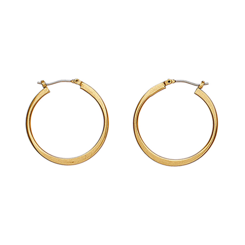 Pilgrim Gold Small Hoop Earrings