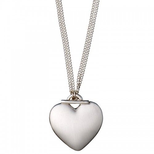 Pilgrim Silver 2 in 1 Heart Necklace