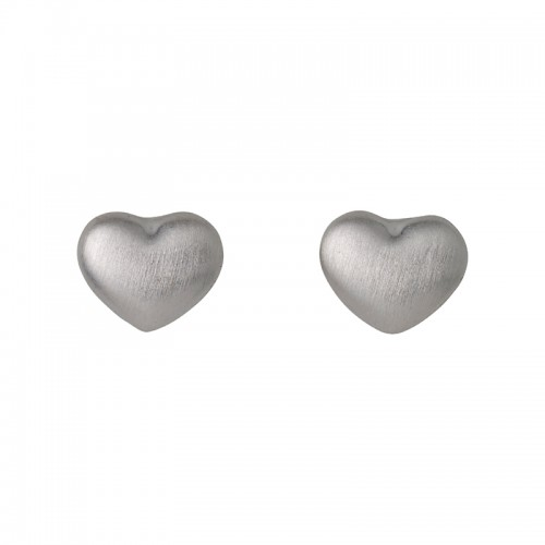 Pilgrim Silver Tiny Heart Earrings