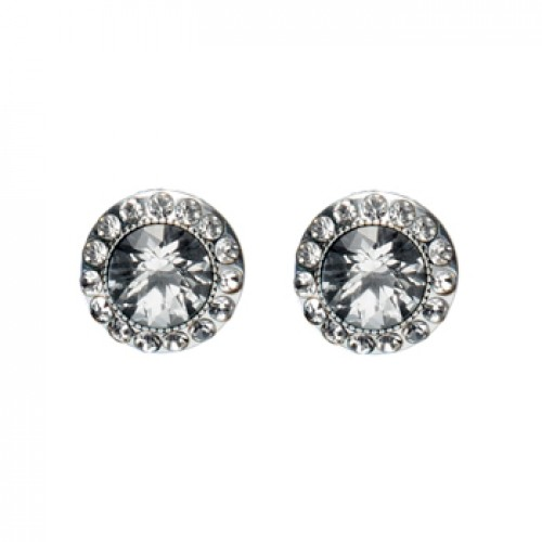 Pilgrim Silver Sparkling Crystal Stud Earrings