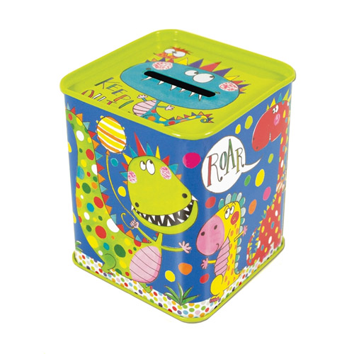 Rachel Ellen Dinosaurs Money Tin