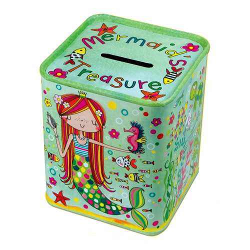 Rachel Ellen Mermaid Treasures Money Tin