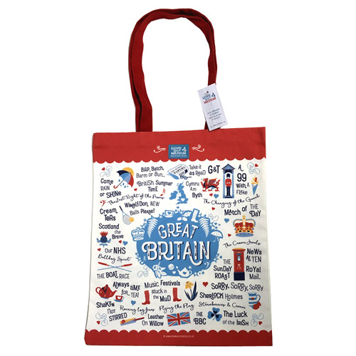 Love Your Nation Great Britain Tote Bag