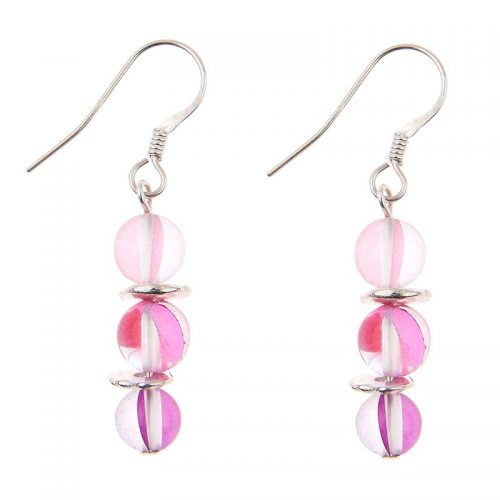 Carrie Elspeth Halo-Earrings-Pink