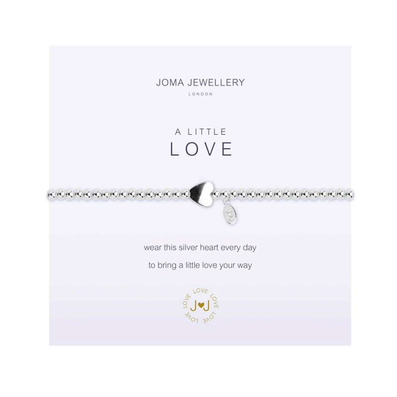 A Little Love Silver Heart Bracelet By Joma AYGF6Ul
