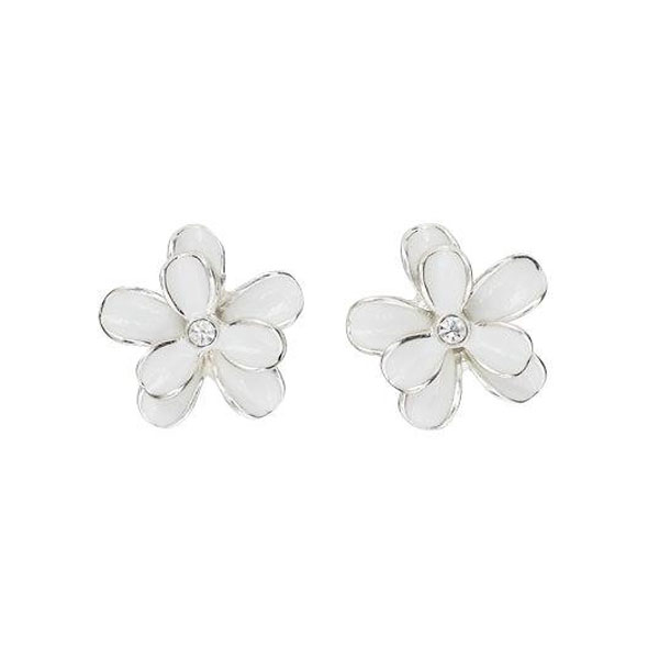 earrings htm stud gold diamond p flower white