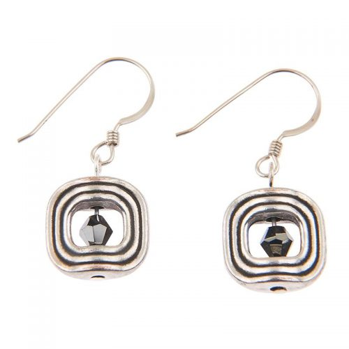 Carrie Elspeth Silver Labyrinth Earrings