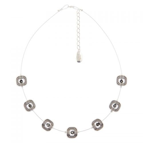 Carrie Elspeth Silver Labyrinth Necklace
