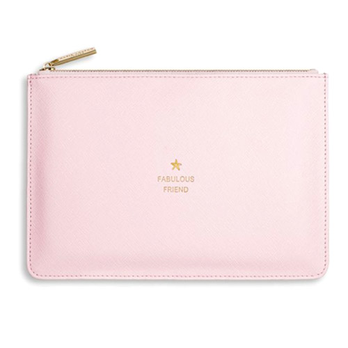 Katie Loxton Happy Fabulous Friend Pouch -Pink